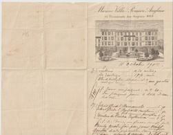 PAPIER A LETTRE - MARINE VILLA PENSION ANGLAISE - 77 PROMENADE DES ANGLAIS - NICE - 1902 - - Publicidad