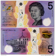 AUSTRALIA       5 Dollars       P-62       (20)16       UNC - 2005-... (polymer Notes)