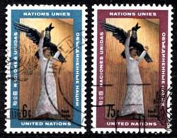 Nations Unies New-York 1968 Mi.Nr: 198-199 Kunstwerke  Oblitèré / Used / Gebruikt - New-York - Siège De L'ONU