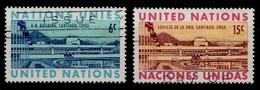 Nations Unies New-York 1969 Mi.Nr: 210-211 Amtssitz Der...  Oblitèré / Used / Gebruikt - New-York - Siège De L'ONU