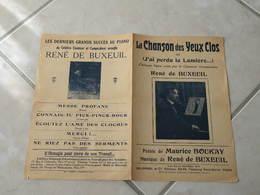 La Chanson Des Yeux Clos (J'ai Perdu La Lumière)-(Paroles Maurice Boukay)-(Musique René De Buxeuil) Partition 1916 - Liederbücher