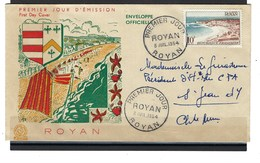 France, FDC, Royan 1954 - 1950-1959