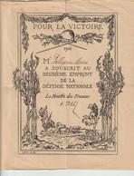 POUR LA VICTOIRE - 1916 - Mr MARIUS A SOUSCRIT AU DEUXIÈME EMPRUNT DE LA DÉFENSE NATIONALE - LE MINISTRE DES FINANCES - - Actions & Titres