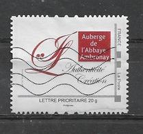 FRANCE  Montimbramoi  AUBERGE DE L'ABBAYE DE AMBRONAY Oblitéré - France