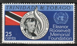 Trinidad And Tobago 1965 Single Stamp To Celebrate Eleanor Roosevelt Memorial. - Trinidad & Tobago (1962-...)
