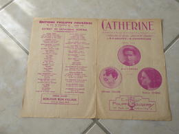 Catherine (Chanson D'Alsace)-(Paroles René Paul Groffe)-(Musique M. Zimmermann) Partition - Liederbücher