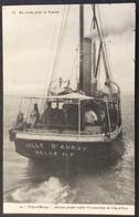 CPA253 Vendée Bateau Service Postal Entre Fromentine Et L'Ile D'Yeu «La Ville D'Auray» Île D'Yeu 1918 - Ile D'Yeu