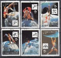 1992 BARCELONA - Sao Tome - MiNr: 1317-1322 Komplett Used - Sommer 1992: Barcelone