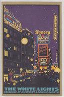 The White Lights - Broadway - Artistic Card - Postcard Collectors Stamp 1924    (A-74-160126) - Werbepostkarten