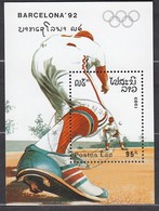 1992 BARCELONA - Laos - MiNr: 1161 Block 128  Used - Sommer 1992: Barcelone