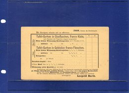 ##(DAN196)- Austria - 2 Kr.. Postal Card - German / Bohemian Text, Private Printing Znaim/Znojmo On Back-unused - Stamped Stationery