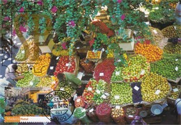 Postal Máximo Funchal Mercado Madeira Natal 2018 Portugal Maximum Maxicard Market Noël Christmas Fruit Vegetables Fruta - Ernährung