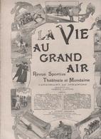 LA VIE AU GRAND AIR 03 12 1899 - CHASSE A COURRE RENARD - CHIMAY - AEROSTATION - ANCIENS CYCLES - NICE - - Books, Magazines, Comics