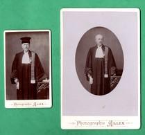 50 Manche Avranches Lot De 2 Photos Anciennes D 'un Juge Photographie Allix  Format 11cm X 16,5cm Et CDV 6,5cm X 10,5cm - Alte (vor 1900)
