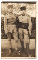 MILITARIA - CARTE PHOTO  - DEUX MILITAIRES - Guerre 1914-18