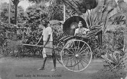 Tamil Lady In Rickshaw Ceylon SRI-LANKA - Sri Lanka (Ceylon)