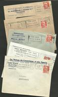 36 - INDRE / CHATEAUROUX / Lot 6 Enveloppes Commerciales / Facture 12F Marianne De Gandon / Années 1951 & 1952 - Postmark Collection (Covers)