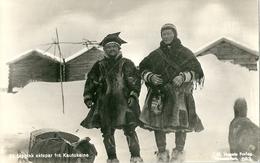 2 Superbes Cpa De NORVEGE  -  Et Lappisk Ektepar Fra Kautokeino  -   Lappekone, Finnmark - Norvège
