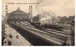 Antwerpen - Centraal Station - De Sporen - Achterkant - Stoomtrein - Train à Vapeur - C - Antwerpen