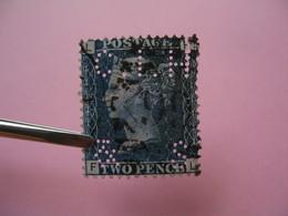 Perforé Perfin Lochung , Great Britain  QV 2p Bleu  CIH&S - Grande Bretagne Queen Victoria 2p Bleu   See, à Voir - Perfins