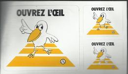 Autocollant - Ouvrez L'oeil - Distribué Par L'Automobile Club De Suisse  Pour La Prévention Des Accidents De La Route - Autocollants