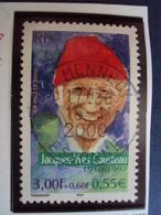 """2000-2009   Timbre  Oblitéré N° 3346     """" Jacques Yves Cousteau     """"     1 Euro - France"""