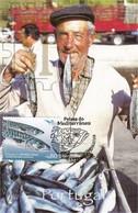 Maximo Peixes Mediterrâneo 2016 EUROMED Postal Maximum Maxicard Fauna Fish Scomber Scombrus Sarda Poisson Fisch Pesce - Tarjetas – Máximo