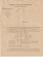 BUREAU PARITAIRE MUNICIPAL - SECTION DES CUISINIERS - LA FRATERNELLE - NICE - 1913 -SOCIÉTÉ DE SECOURS MUTUELS - LETTRE - Documents Historiques