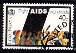 Nations Unies New-York 1990 Mi.Nr: 599 Weltweite AIDS-Bekämpfung  Oblitèré / Used / Gebruikt - New-York - Siège De L'ONU