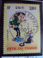 "2000-2009  - Timbre  Oblitéré   N°  3370 A    ""  Gaston Lagaffe    ""      0.65 - France"