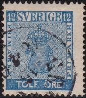 Sweden   .      Yvert   8       .       O     .         Cancelled   .    /   .   Gebruikt - Gebruikt