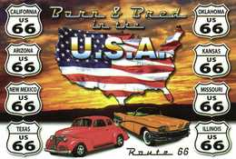 Barn & Bted In The U.S.A. Route 66 California Arizona New Mexico Texas Oklahoma Kansas Missouri Illinois RV Beau Timbre - Maps
