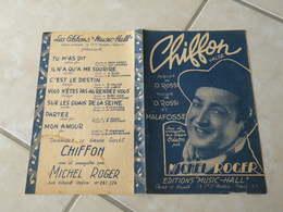 Chiffon(Michel Roger) -(Paroles O. Rossi)-(Musique O. Rossi & Malafosse) Partition - Liederbücher