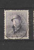 COB 169 Oblitération Centrale CHARLEROY - 1919-1920 Roi Casqué