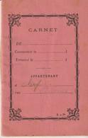 CARNET - APPARTENANT - CHEF DE CUISINE - DÉPENSES HEBDOMADAIRES - Documents Historiques