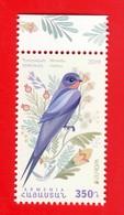 Armenien / Arménie / Armenia 2019, EUROPA Europe CEPT, National Birds, Fauna Swallow - MNH - Armenia