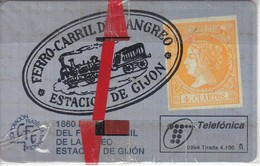 TARJETA DE ESPAÑA DE CERTAMEN FILATELICO DE TIRADA 4100  NUEVA-MINT (SELLO-STAMP)(TRAIN-TREN-ZUG) - Timbres & Monnaies