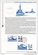 """"""" PORTE-HELICOPTERES JEANNE D'ARC """" Sur Document Philatélique Officiel N° YT 4423 4424. DPO - Militaria"""