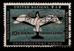 Nations Unies New-York 1951 Mi.Nr: 13 Flugpostmarke  Oblitèré / Used / Gebruikt - New-York - Siège De L'ONU