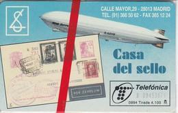 TARJETA DE ESPAÑA DE CASA DEL SELLODE TIRADA 4100  NUEVA-MINT (SELLO-STAMP) - Sellos & Monedas