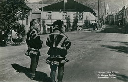 2 Superbes Cpa De  HAMMERFEST   ( Norvege )   Lapper Paa Bytur.   -   Kautokeino Lapp . - Norvège