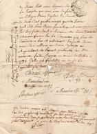 Vieux Papier Du Béarn, An II, Gelos, Recrutement Des Conscrits Conduits à Pau, Signature Des Officiers - Documents Historiques