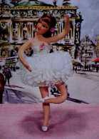 Cpa PHOTOCHROM POUPEE BALLERINE Sur POINTES Joli TUTU Poupées SIMS, DOLL DANCING - Games & Toys