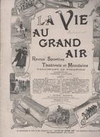LA VIE AU GRAND AIR 10 12 1899 - CHAMPIONNAT DU MONDE DE LUTTE - MONGOLIE PESTE - CHASSE PALOMBES - CYCLES ANCIENS - - Books, Magazines, Comics