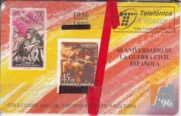 TARJETA DE ESPAÑA DE SELLOS DE TIRADA 6000  (STAMP) NUEVA-MINT - Sellos & Monedas