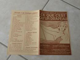 Ce Que C'est Qu'un Drapeau -(Paroles E. Favart)-(Musique Diodet La Mareille) Partition 1909 - Liederbücher