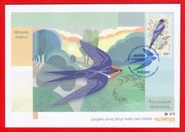 Armenien / Arménie / Armenia 2019, EUROPA Europe CEPT, National Birds, Fauna Swallow - FDC - Armenia