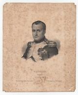 Gravure Eau Forte Napoléon Empereur Lith. De Ligny N°12 - Vieux Papiers