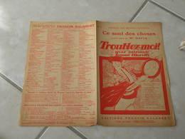 Ce Sont Des Choses ( Opérette Toublez Moi) -(Paroles Y. Mirande)-(Musique R. Moretti) Partition 1924 - Musique & Instruments