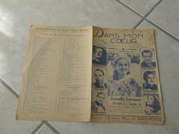 Dans Mon Coeur (Daniel Darrieux) -(Paroles A. Honez)-(Musique P. Misraki) Partition 1938 - Liederbücher